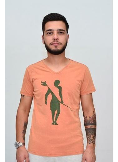Superfly 20592 Men Tshırt Orange Oranj